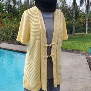 Christopher & Banks knit cardigan sweater, sz XL